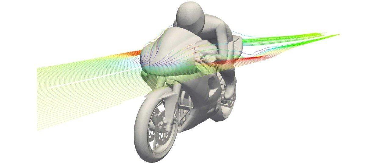 cfd model of a motorbike