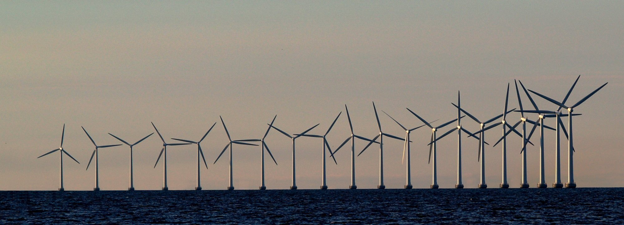 offshore wind turbines in the distance
