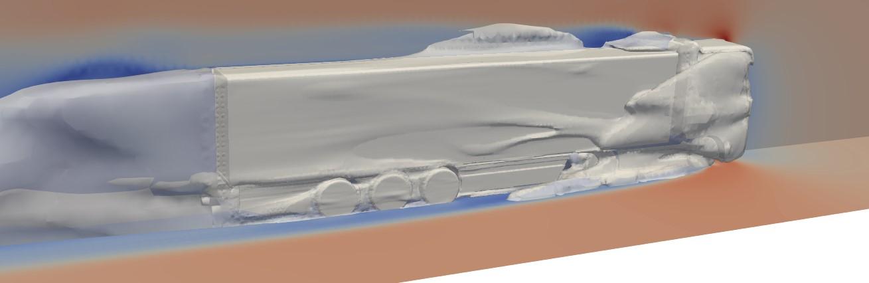 trailer skirts cfd simulation aerodynamic effect