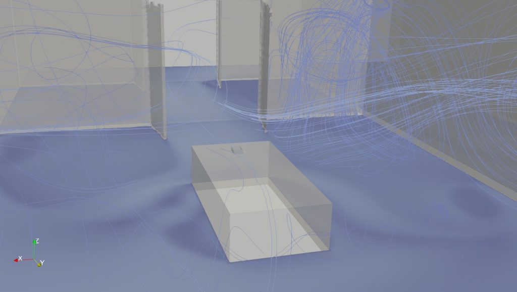 cfd simulation of airborne transmission in an hospital