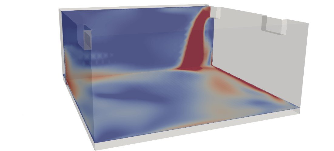 negative pressure room CFD simulation