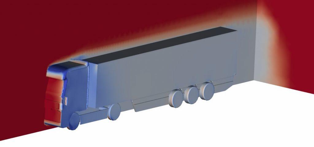 truck aerodynamics simulation