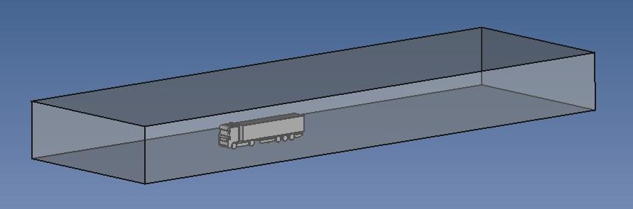 Truck CFD computational domain