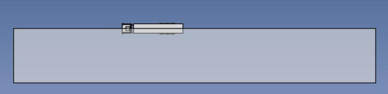 Truck symmetric CFD computational domain