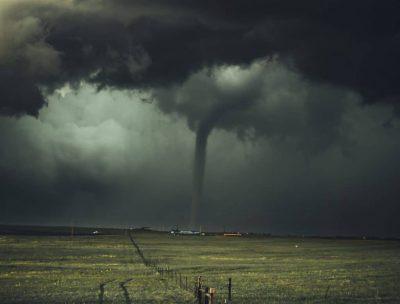 tornado on dark sky